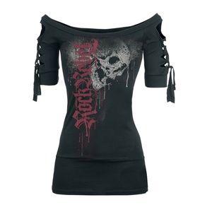 Tops - Short Sleeve Rock Rebel Skull Scoop Neck Shirt